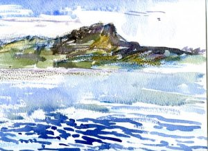 Sailing past Eigg